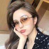 個性透明不規則女士太陽鏡網紅同款墨鏡韓版潮復古原宿風裝飾眼鏡 【四季生活館】