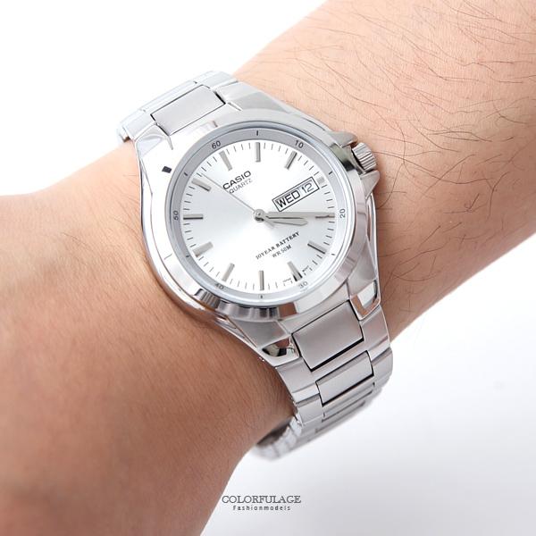 CASIO卡西歐耀眼亮銀防水鋼錶【NEC70】