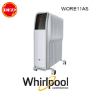 惠而浦 Whirlpool WORE11AS 葉片式電暖器 (電子式) 白色