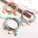 ►新款韓版髮飾 可愛頭繩皮繩飾品紮頭髮橡...
