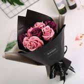 情人節禮物11朵香皂花肥皂花玫瑰花束仿真花禮盒假花永生花干花