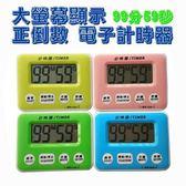台灣彰唯 中型液晶正倒數計時器 (黃/藍/綠/粉  四色隨機出貨)