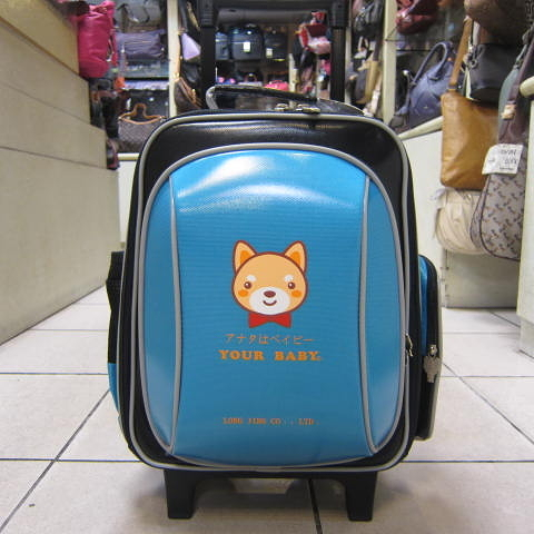~雪黛屋~YOUR BABY 造型拉桿書包 三用多功能個人登機行李箱 可提可拉桿可後背#3305A藍