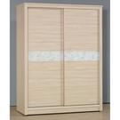 【森可家居】瓦妮莎5x7尺衣櫃 10JX329-8 左右推拉滑門衣櫥 洗白木紋 無印北歐風 MIT台灣製造