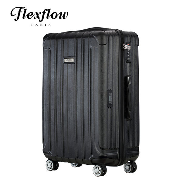Flexflow 髮絲黑 19吋 智能測重防爆拉鍊旅行箱 里昂系列 19吋行李箱 【官方直營】
