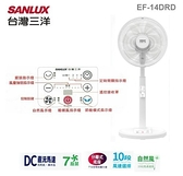 【佳麗寶】-炎夏特價下殺(台灣三洋SANLUX)14吋DC直流馬達電風扇 EF-14DRD