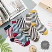 正韓直送 韓國襪子 情侶款細條紋中筒襪【K0703】 韓妞必備 百搭基本款 素色長襪 阿華有事嗎