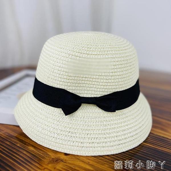 草帽子女式可折疊漁夫帽太陽防紫外線遮臉水桶夏小沿防曬遮陽時尚 蘿莉新品