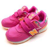 《7+1童鞋》中童 New Balance YV574OL  透氣 帆布 復古 休閒 運動鞋 9421 粉色
