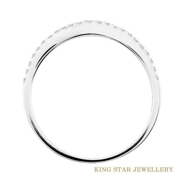 18K金 簡約時尚鑽石線戒(白K金)  King Star海辰國際珠寶 線戒 飾品 鑽石 休閒戒 戒指