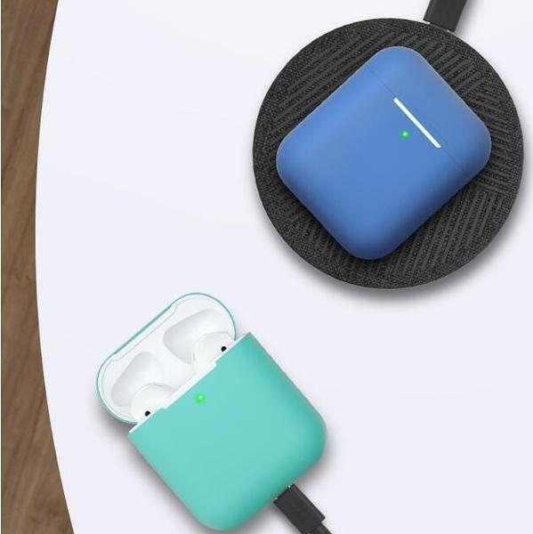 airpods保護套蘋果液態矽膠無線藍芽耳機套Airpods2透明超薄防塵貼 育心館