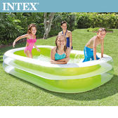 【INTEX】長方型綠色透明游泳池(770L)(56483)