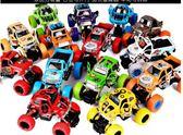 兒童玩具合金回力車男孩女孩玩具車小汽車模型仿真大腳車車模耐摔【雙12 聖誕交換禮物】