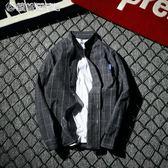 文樂牌原創格子長袖襯衫男日系清新風打底襯衣港風休閒襯衫 「繽紛創意家居」