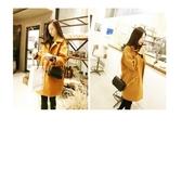 #現貨#長大衣#排釦 學院風 簡約 長袖 外套 長大衣 M碼【CS4752】 icoca