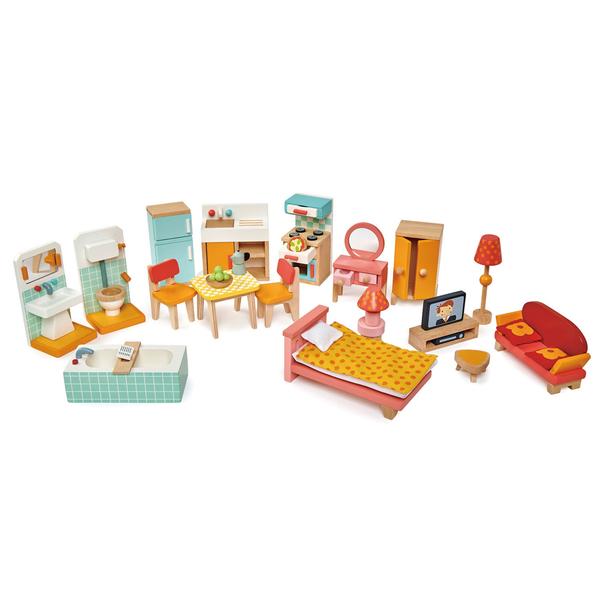 【美國Tender Leaf Toys】度假別墅家具套組(娃娃屋配件)
