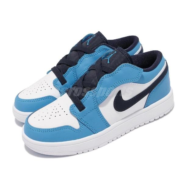 Nike 童鞋 Jordan 1 Low ALT PS 白藍 小朋友 中童 喬登 AJ1【ACS】 BQ6066-144