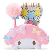 Sanrio 美樂蒂好朋友便條本與趴趴造型筆筒組★funbox生活用品★_744620