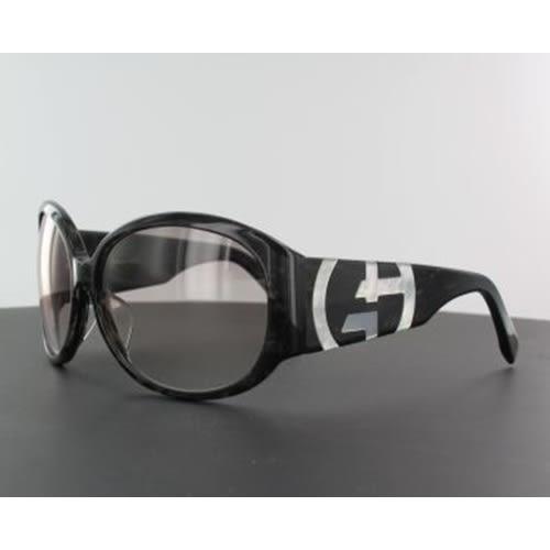 Giorgio Armani裸空LOGO太陽眼鏡-黑色