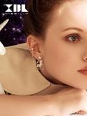 單邊耳環925銀針獨角獸無耳洞耳環女氣質新款潮小眾設計感時尚耳飾品 多色小屋