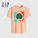 Gap男童 潮酷純棉印花短袖T恤 683400-桃粉色