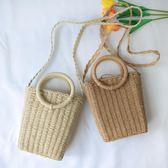 編織包 包郵新款手提包斜背編織包ins沙灘草編包簡約草包女包百搭 瑪麗蘇