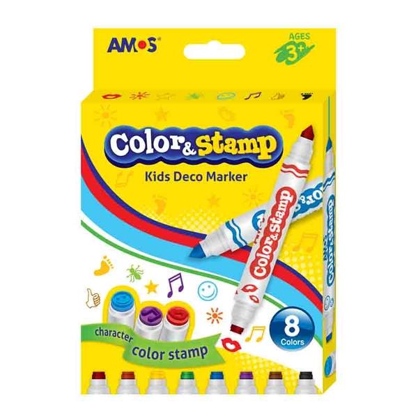 韓國 AMOS 8色印章彩色筆
