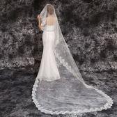 婚紗頭紗婚禮新娘3米超長蕾絲頭紗