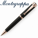 義大利Montegrappa萬特佳 Ducale 公爵系列 - 原子筆 (黑色-金夾) ISDURBRC / 支
