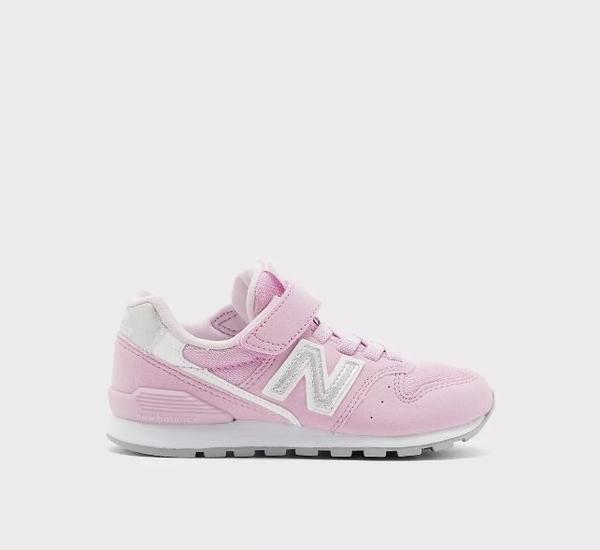 New Balance 粉色魔鬼氈休閒運動童鞋-NO.YV996PRP