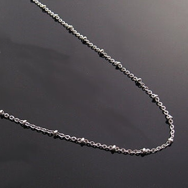 316L醫療鋼項鍊 2mm小圓珠O型純鏈子-銀 防抗過敏 不退色