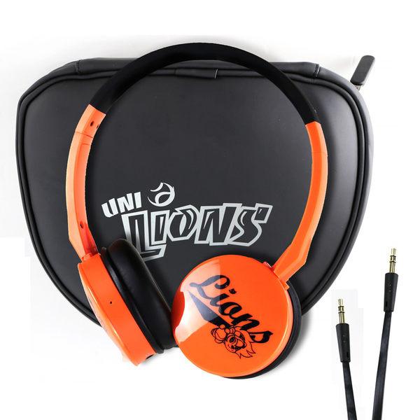 統一獅聯名款 JS 淇譽 HMH039 藍牙無線立體聲耳機(橘)+麥克風 高級頭戴式可折疊內置鋰電另有黑白
