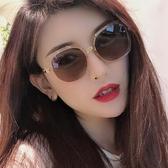 墨鏡2020新款潮女網紅款復古眼鏡太陽鏡男開車專用防紫外線小臉款 韓國時尚週