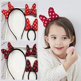 可愛卡通蝴蝶結髮飾三件組 兒童髮飾 髮箍