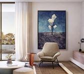 辦公室現代玄關豎版大幅抽象裝飾風景油畫EY1524『M&G大尺碼』