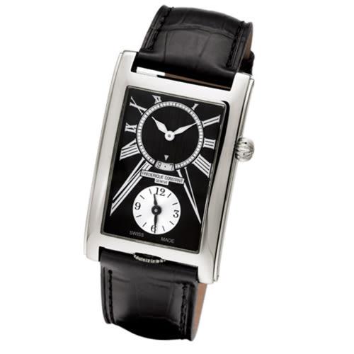 CONSTANT 康斯登/Carree二地時間顯示手腕錶/FC-205BS4C26