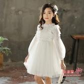 洋裝 女童公主裙秋冬季兒童紅色裙子秋裝洋氣連身裙白色刷毛小女孩冬裝 2色110-160 雙12提前購