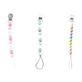 【Loulou lollipop】加拿大 嬰幼兒繽紛串珠奶嘴夾/奶嘴鍊夾 88710