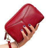 新款歐美皮質手拿包女小包新款手抓包大容量皮質零錢包手機包【購物節限時83折】