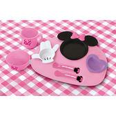日本製Disney用品配件 JAN-306811 米妮 多功能餐盤組(豪華款) 【STDI020013005】