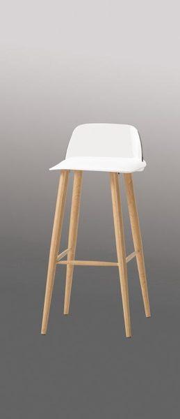 8號店鋪 森寶藝品傢俱 c-01 品味生活 吧椅系列 1043-4布魯諾吧椅(高)(白)(8063b)