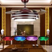 風扇燈影響變頻-藍芽音響隱形吊扇燈餐廳客廳北歐簡約音樂風扇燈臥室帶燈風扇吊扇DF 免運