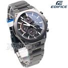 EDIFICE CASIO卡西歐 EFS-S570DC-1A 輕薄 三眼多功能計時碼錶 八角扁平錶圈 男錶 EFS-S570DC-1AUDF