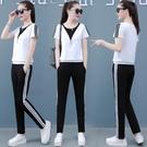 休閒運動套裝女春夏季2020新款韓版寬鬆時尚洋氣減齡衛衣服兩件套