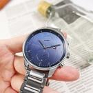 TOMMY HILFIGER / 1791575 / 簡約雙眼 休閒都會 星期日期 日本機芯 不鏽鋼手錶 藍色 44mm