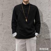 中國風棉麻復古盤扣斜襟上衣中式唐裝漢服秋季亞麻夾克外套    LY7675『時尚玩家』