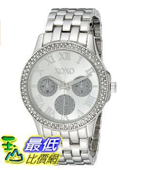 [美國直購] 女錶 XOXO Women s XO183 Rhinestone-Accented Silver-Tone Bracelet Watch