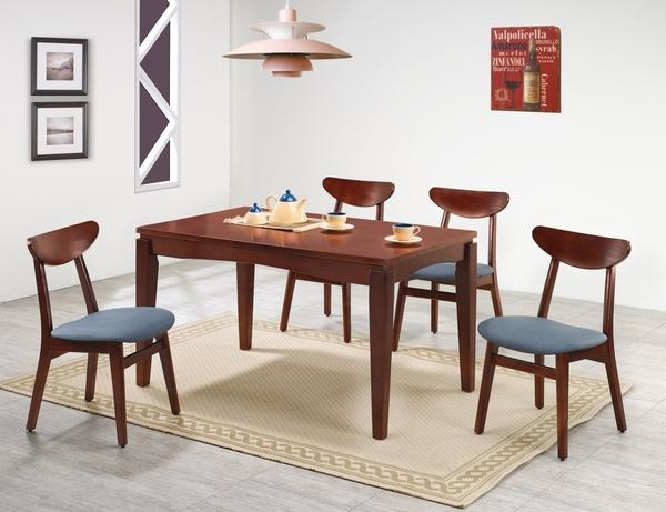 【南洋風休閒傢俱】精選造型椅系列-紐松木深胡桃色/原木色實木餐椅 貓抓皮餐椅(SB818-2 817-2)