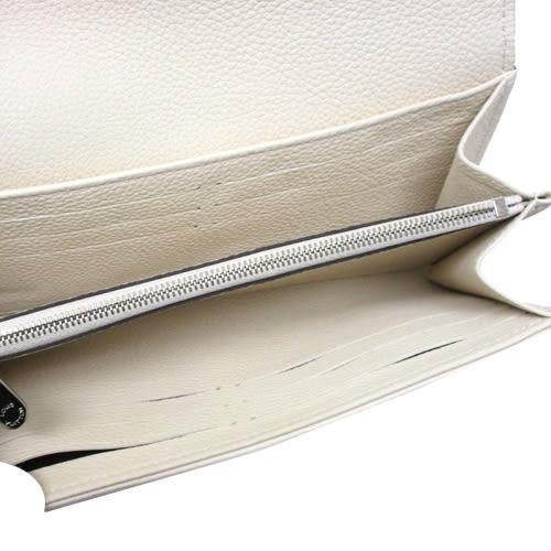 Louis Vuitton LV M60177 經典花紋打孔全皮革壓紋扣式長夾.象牙白 全新 預購【茱麗葉精品】