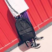 雙肩包男大容量防雨潮牌情侶街拍黑色歐美大學生書包15.6寸電腦包【全館88折】